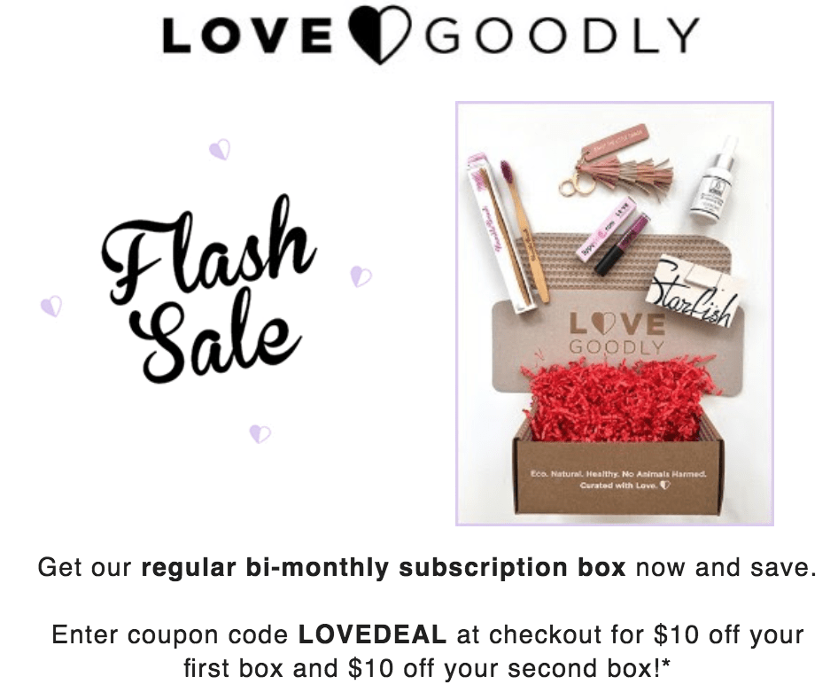 LOVE Goodly Coupon Code – $10 Off First & 2nd Boxes