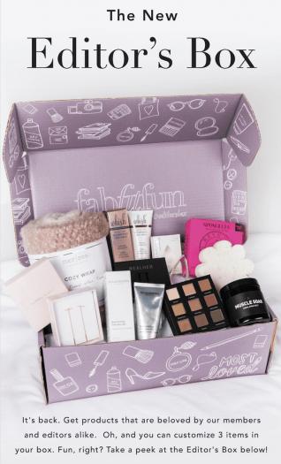 FabFitFun Editor's Box Flash Sale - Save $15!