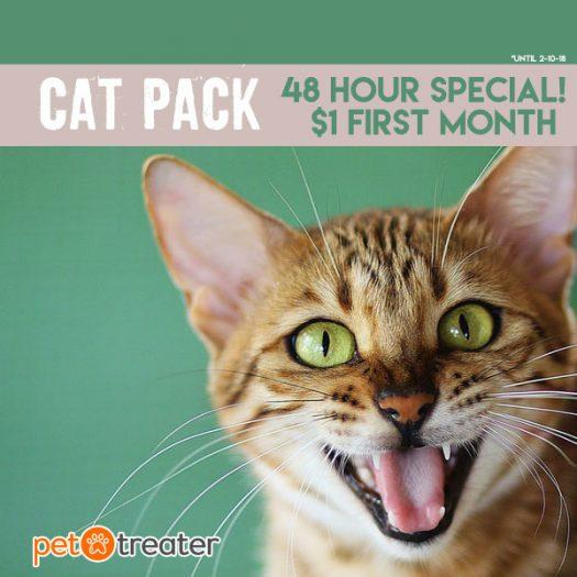 Pet Treater Coupon Code – First Cat Pack for $1