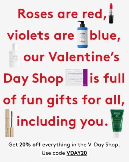 LAST DAY: Birchbox – Save 20% Off Valentine's Day Shop Items