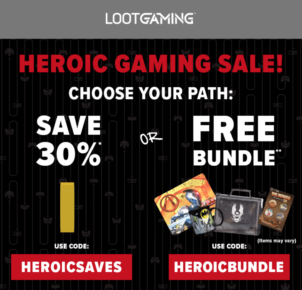 LAST DAY! Loot Gaming Coupon Code – Save 30% Off or Get a Free Bundle!