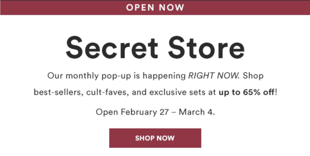 Julep Secret Store Now Open – March 2018