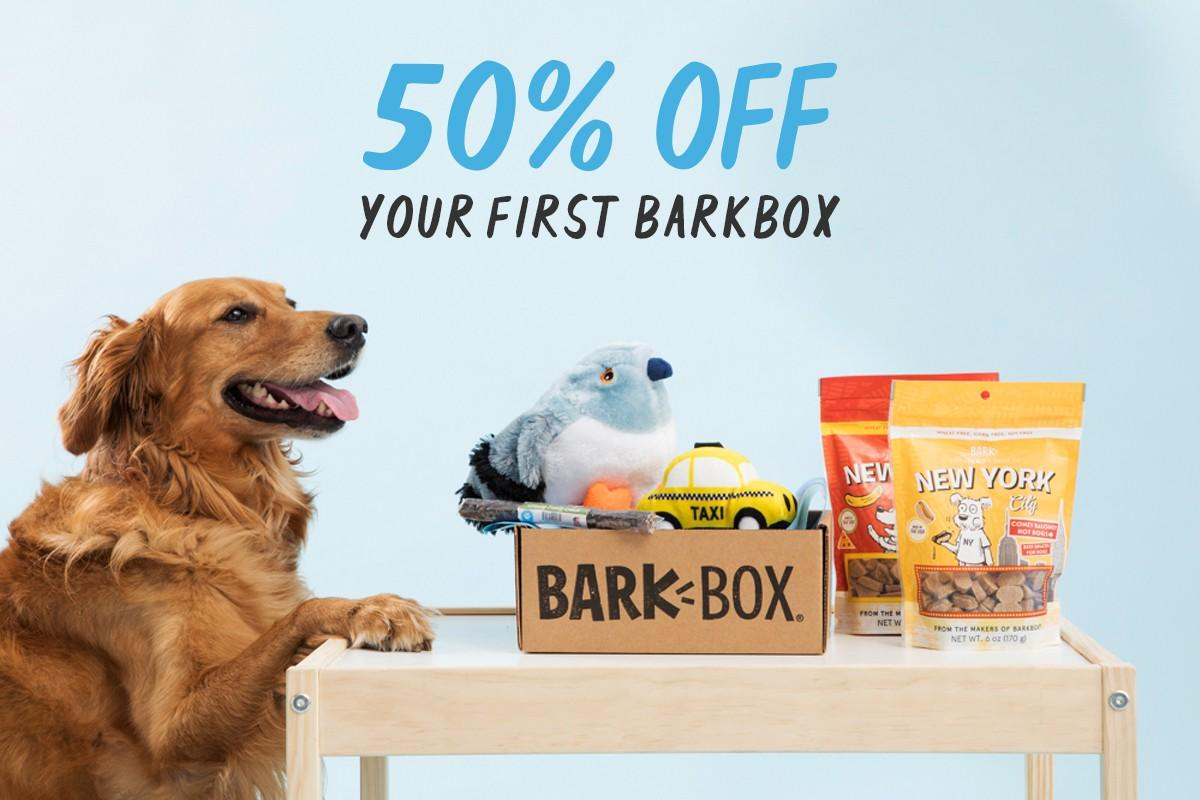 BarkBox Coupon Code – 50% Off First Box on 6 or 12-month Plans!