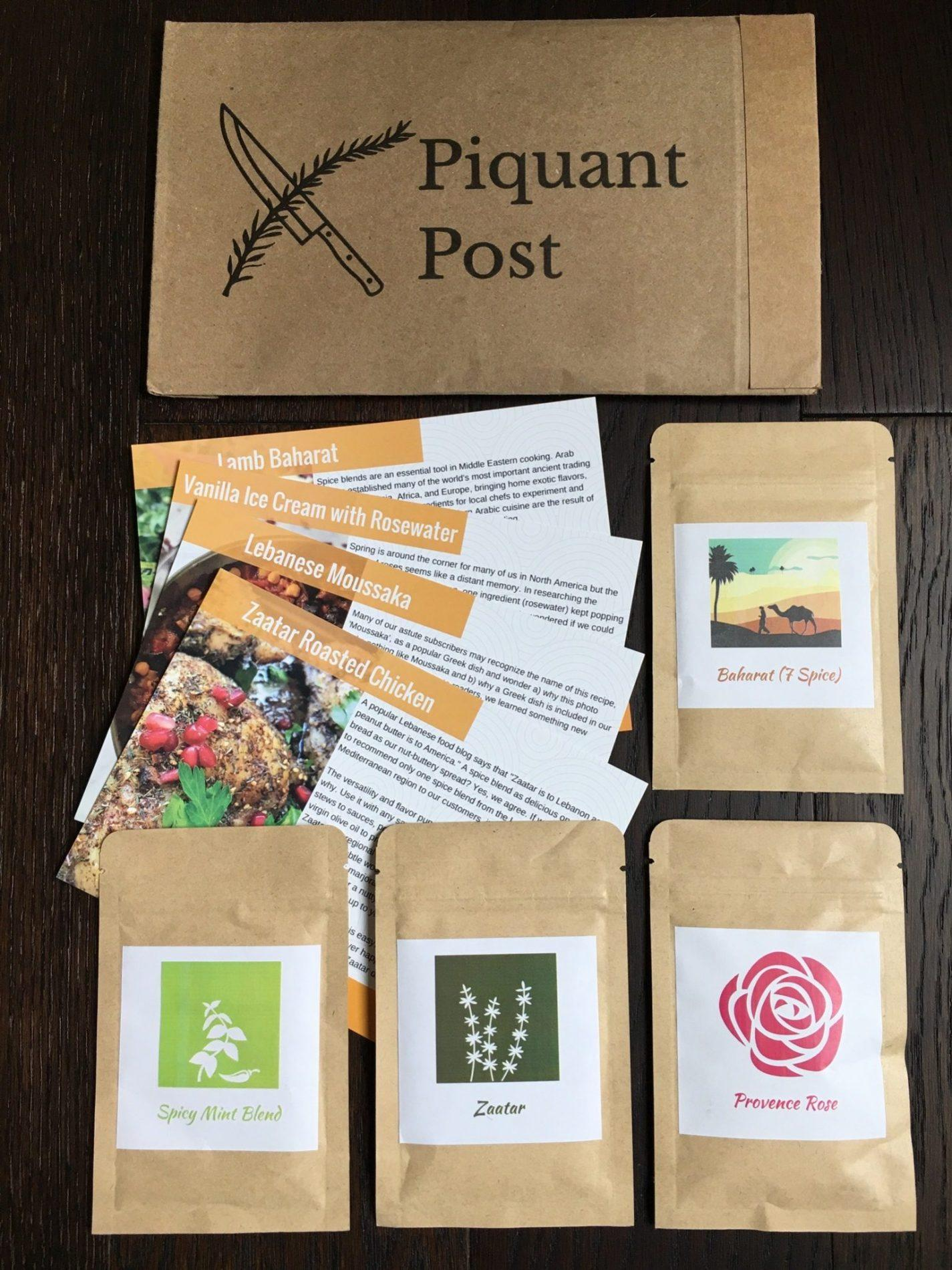 Piquant Post Review – March 2018