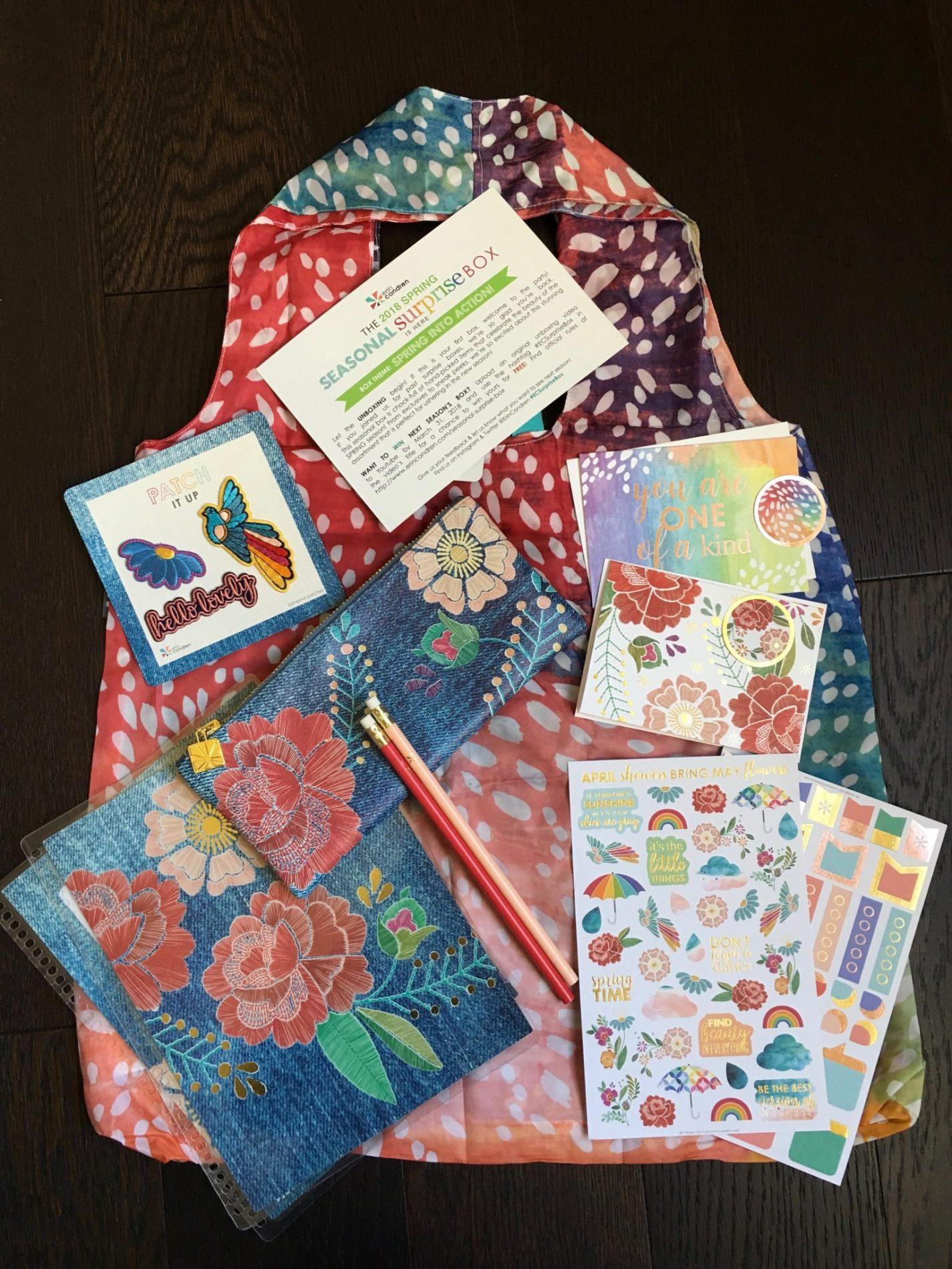 Erin Condren Spring 2018 Seasonal Surprise Box Giveaway (CLOSED)