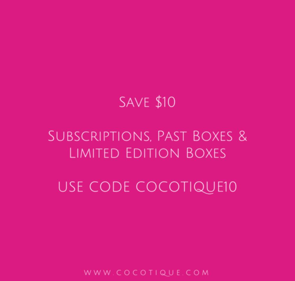 COCOTIQUE Sale – Save $10!