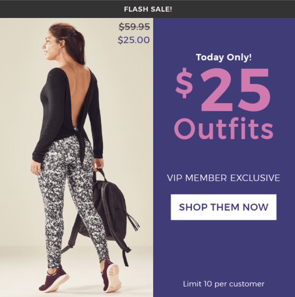 EXTENDED: Fabletics Flash Sale – $25 Outfits!