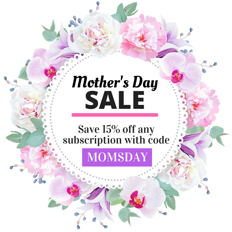 Cozy Reader Club Mother's Day Sale
