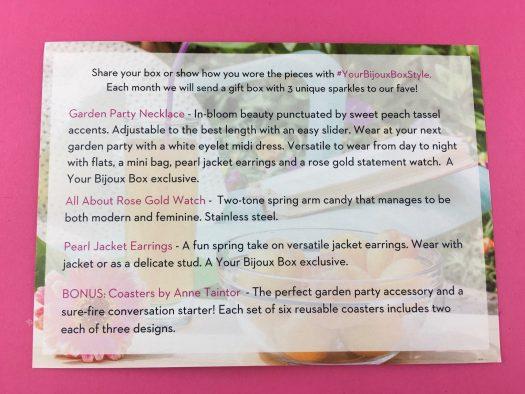 Your Bijoux Box Review - April 2018