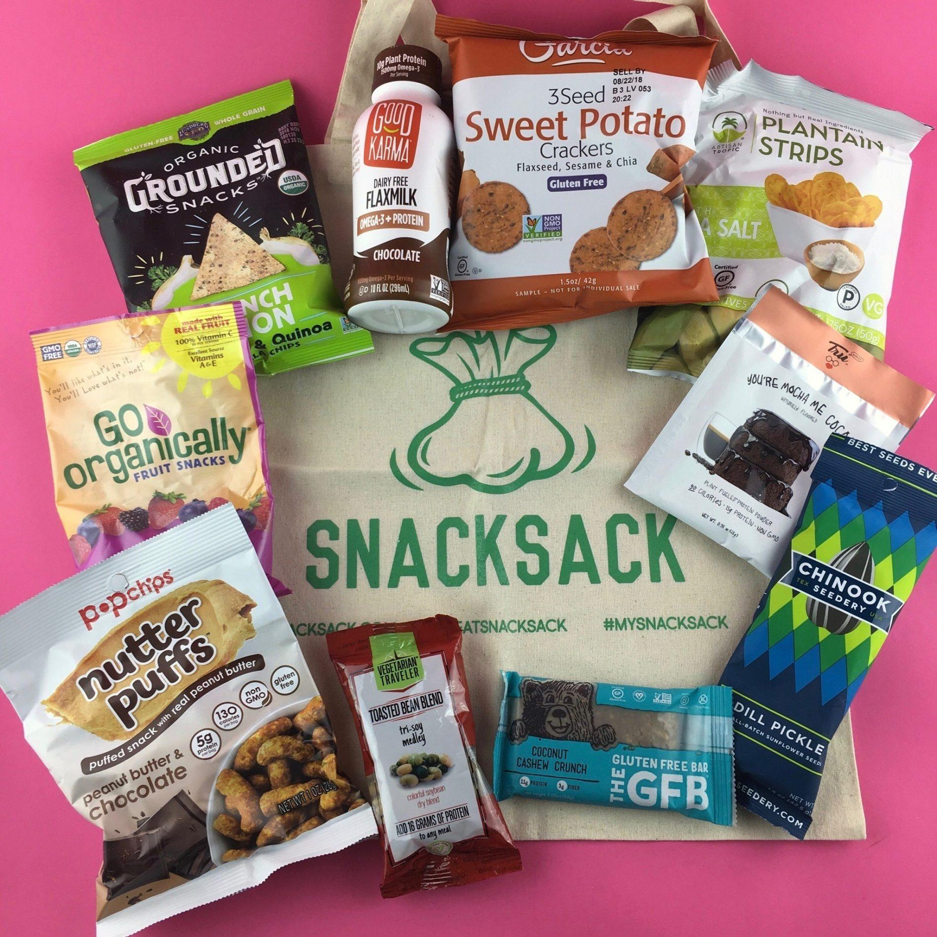 SnackSack Subscription Box Review – April 2018