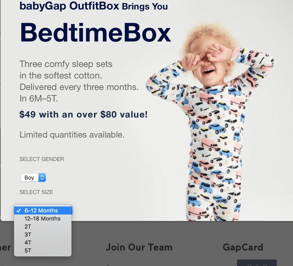New Subscription Box Alert: The babyGap BedtimeBox!