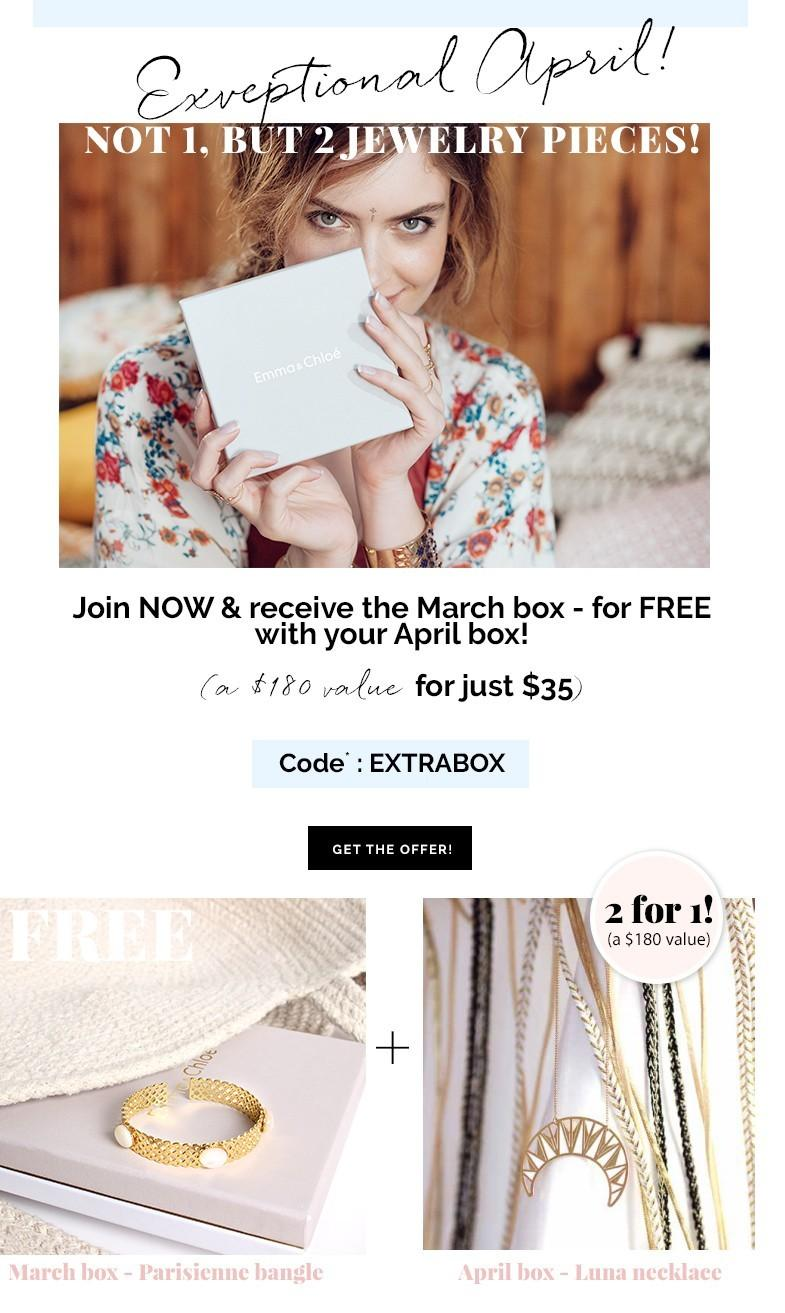 Emma & Chloe Coupon Code – Free March Box with New Subscription!