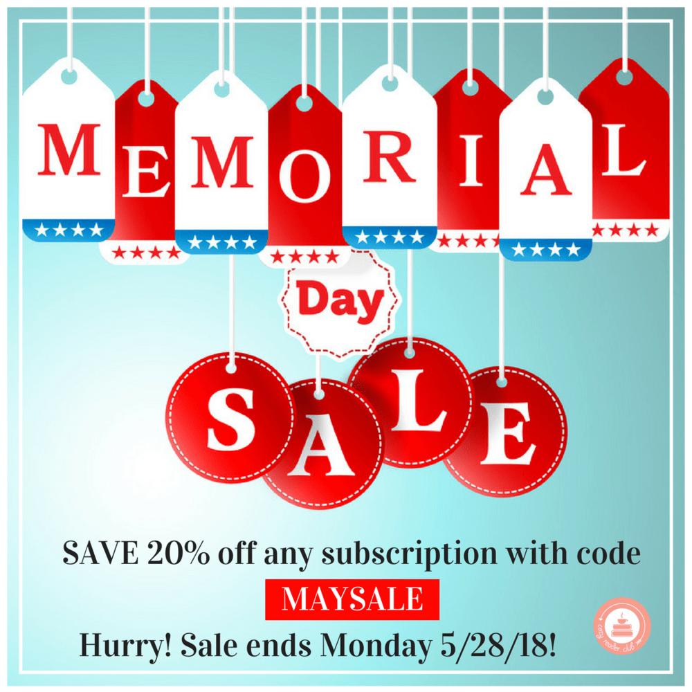 Cozy Reader Club Memorial Day Sale – Save 20%!