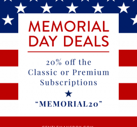 Gentleman's Box is having a Memorial Day! New subscribers can use code MEMORIAL20 to get 20% the Classic or Premium subscriptions.