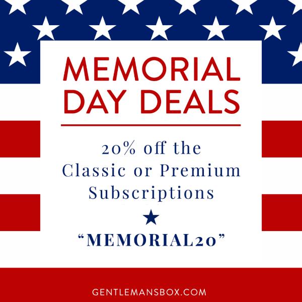 Gentleman's Box Memorial Day Sale – Save 20% Off!