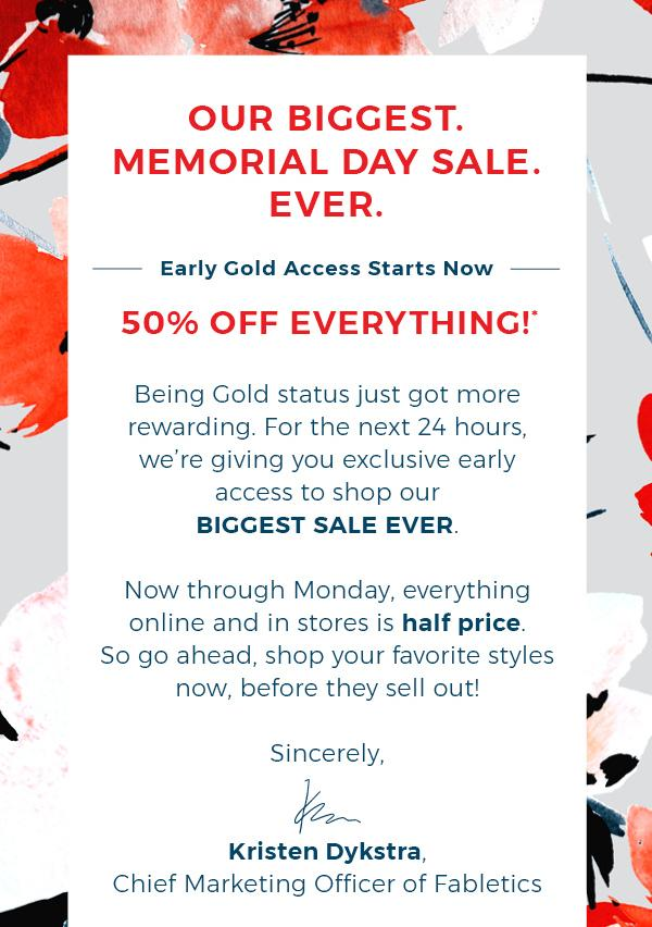 Fabletics Memorial Day Sale Starts Now for Gold Members!