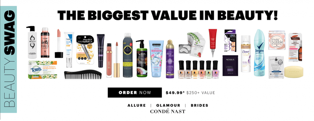 July 2018 Allure Beauty Swag **On Sale Now**!