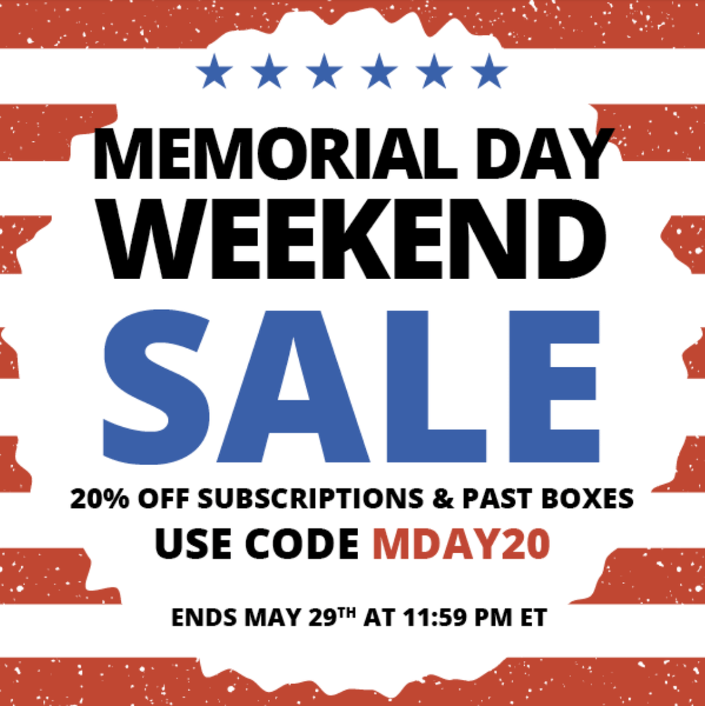 COCOTIQUE Memorial Day Sale – Save 20% Off Subscriptions & Past Boxes