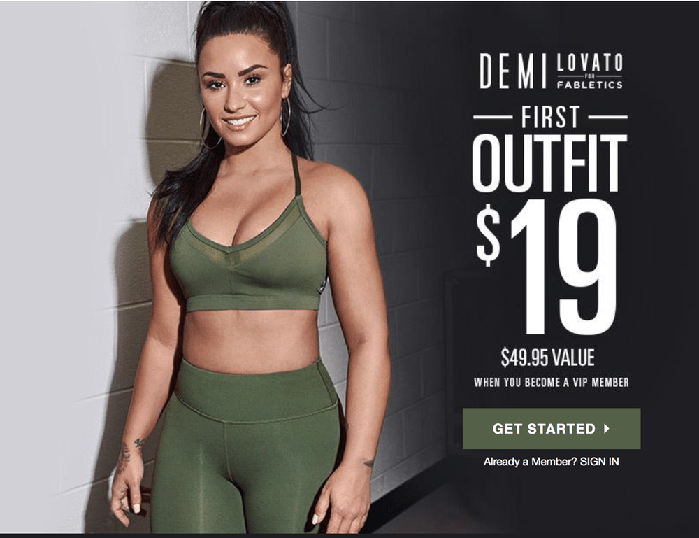 Fabletics First Outfit for $19 – It's Back!