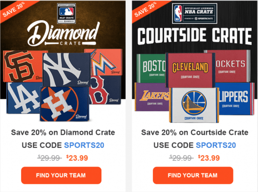 Sports Crate by Loot Crate Coupon Code - Save 20%