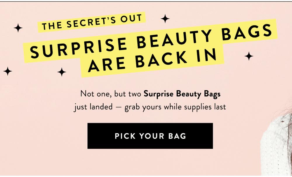 Honest Beauty Surprise Beauty Bags – On Sale Now!