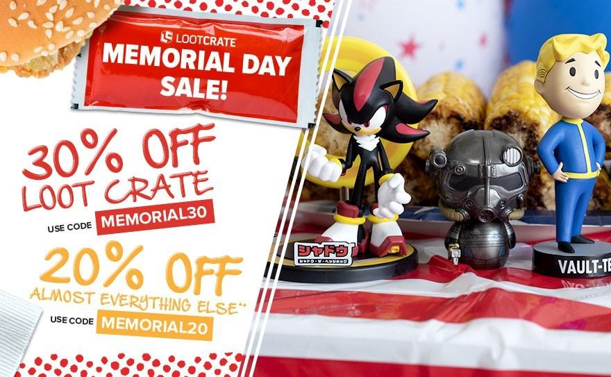 Loot Crate Memorial Day Sale – 30% Off Loot Crate, 20% Off Most Other Loot Boxes!