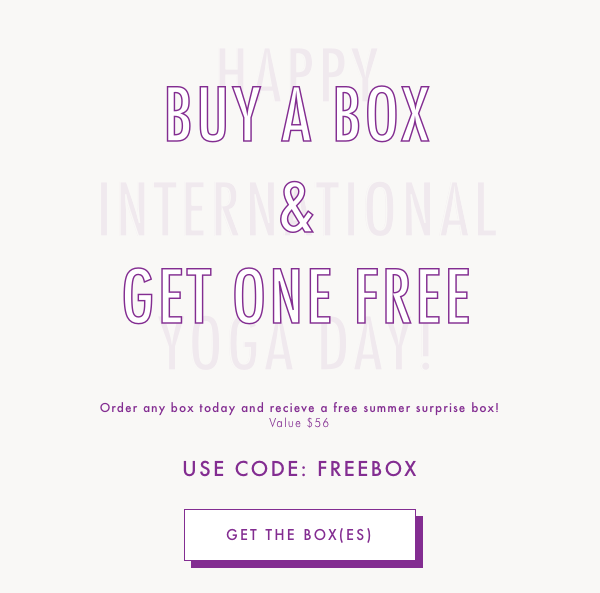 Yogi Surprise FREE Surprise Box with New Subscriptions!