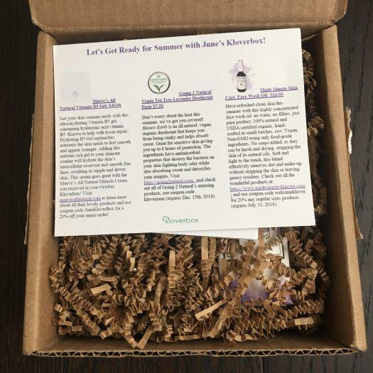 Kloverbox Review + Coupon Code - June 2018