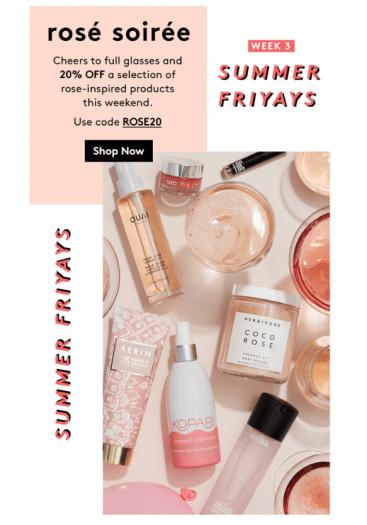 Birchbox – Save 20% Off the Rosé Soirée Collection