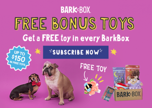 LAST DAY! BarkBox Coupon Code: Free Extra Toy Per Month