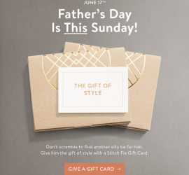 Stitch Fix Father's Day Gift Cards!