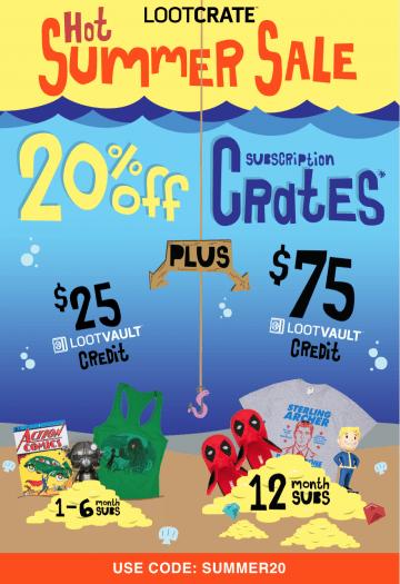LAST CALL: Loot Crate Coupon Code – Save 20% + Free Loot Vault Credit!