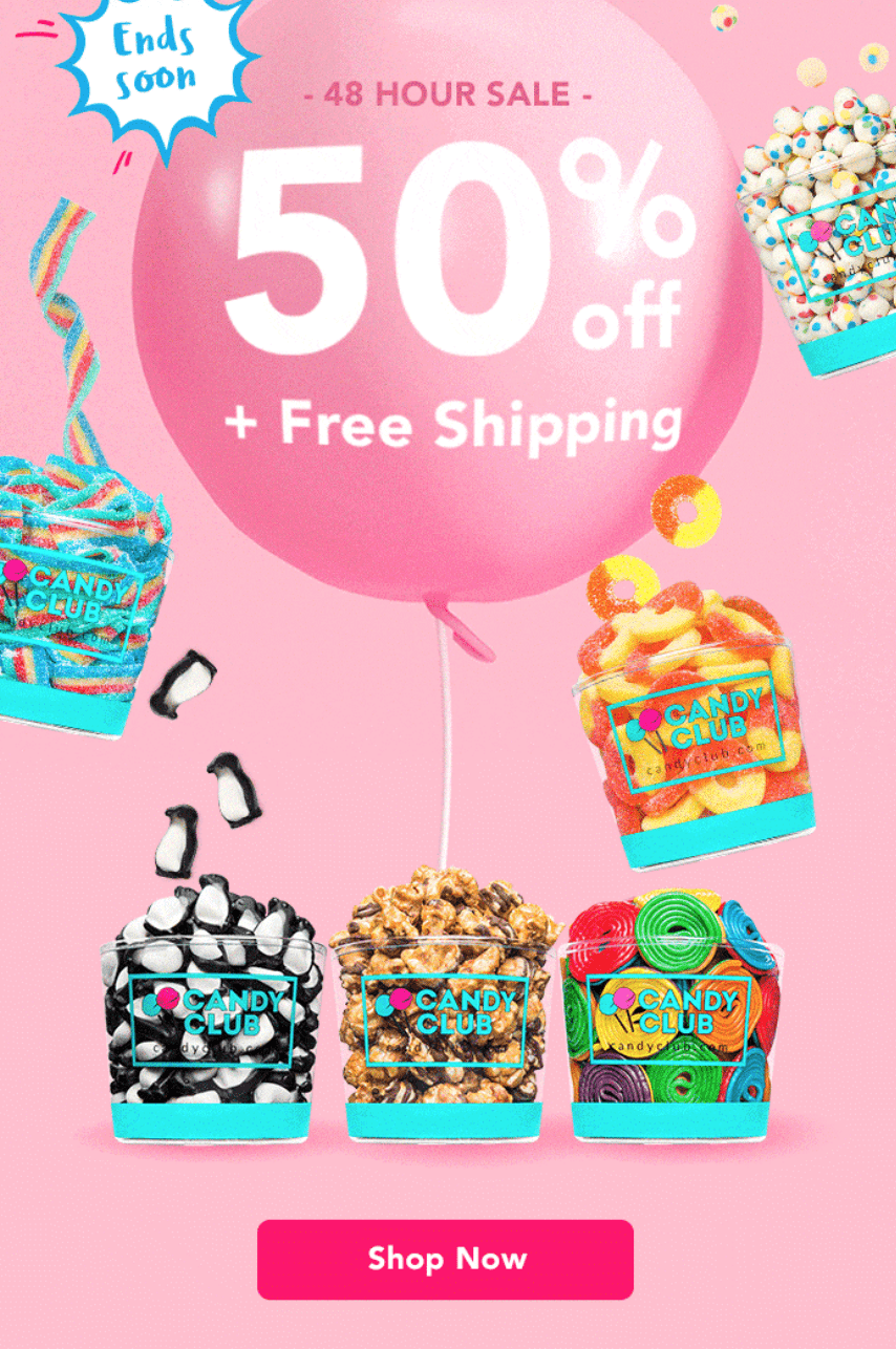 Candy Club Sale – Save 50% Off Your First Box + Free Shipping!