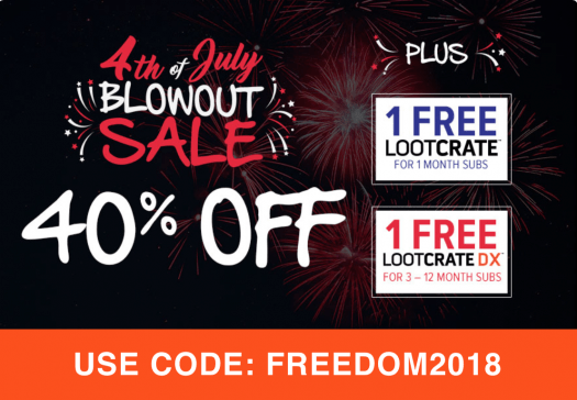 Loot Crate 4th of July Sale – Save 40% Off + Free Box!