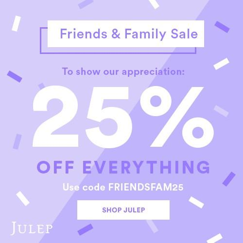 Julep Friends & Family Sale – Save Up to 40% Off!