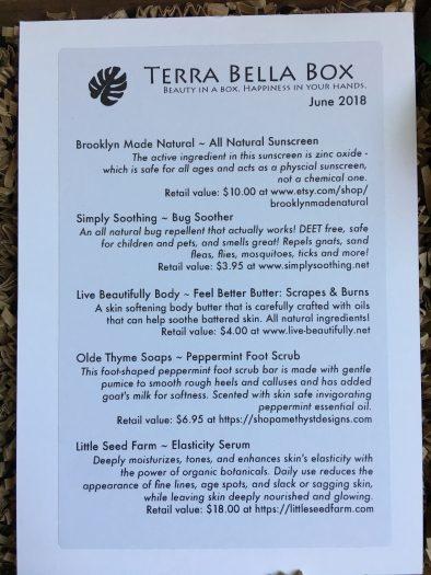Terra Bella Subscription Box Review - June 2018