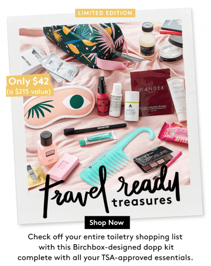 Birchbox: Travel-Ready Treasures Limited Edition Bag – On Sale Now + Coupon Codes!
