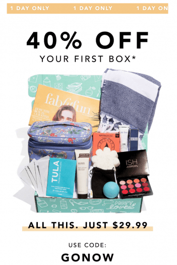 LAST DAY: Save 40% Off Your First FabFitFun Box