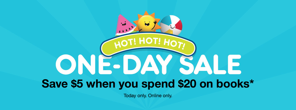 Target One Day Sale – Save $5 Off $20 Book Purchase!