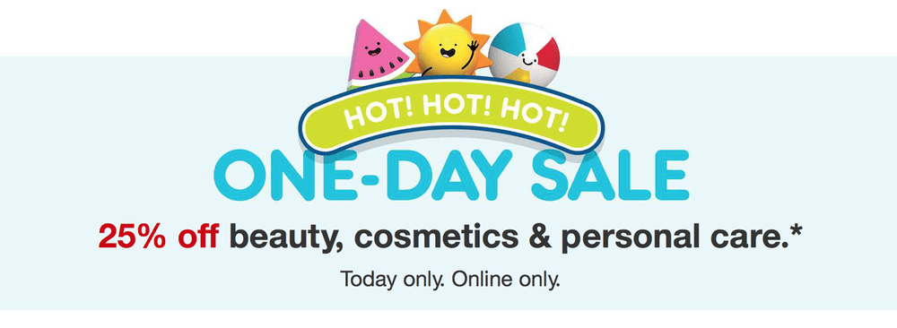Target One Day Sale – Save 25% Off Beauty & Personal Care Items