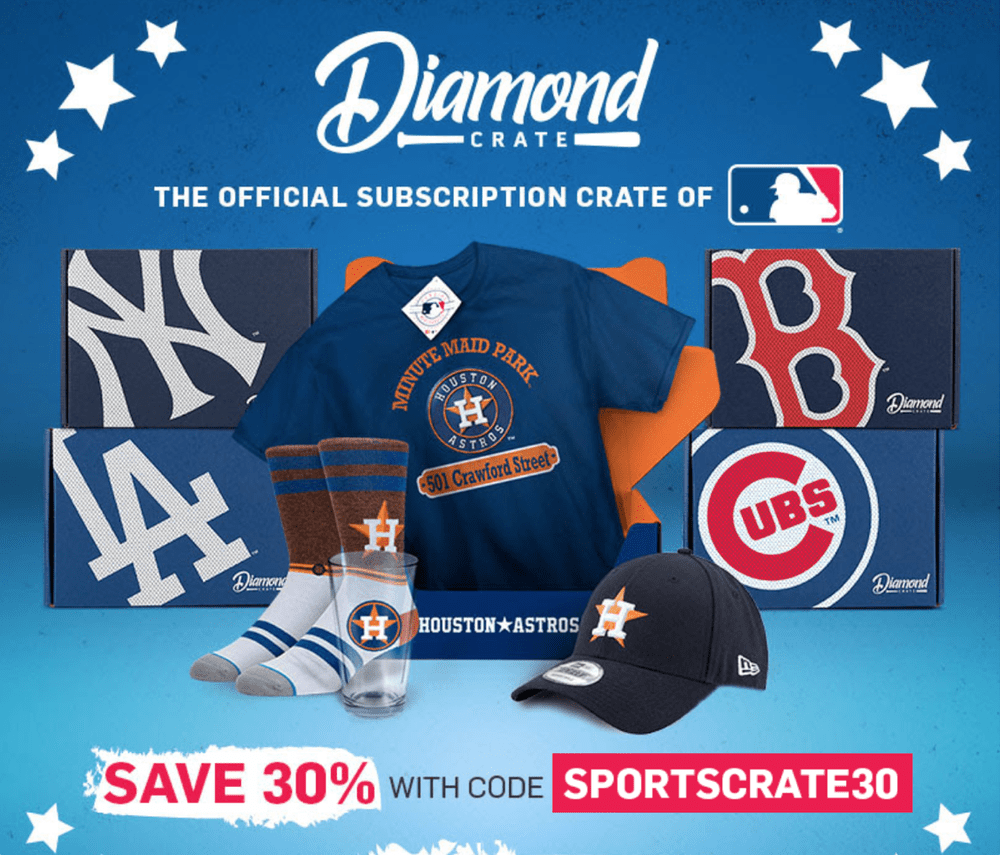 Sports Crate MLB Diamond Crate Coupon Code – Save 30%!