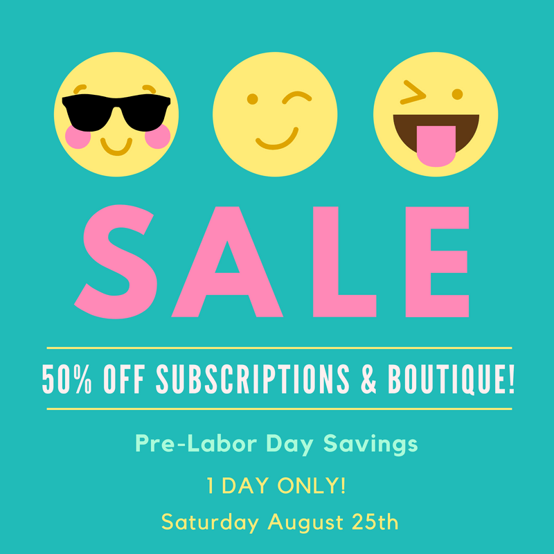 EXTENDED: Your Bijoux Box 50% Off Labor Day Sale!