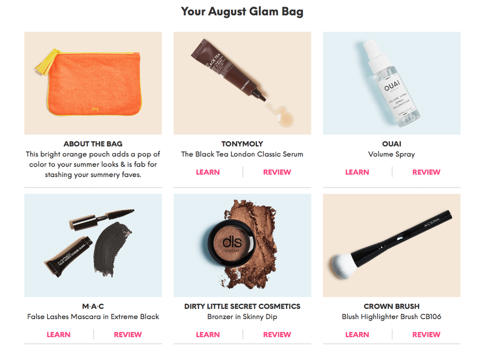 ipsy August 2018 Glam Bag Reveals are Up! - Subscription Box Ramblings
