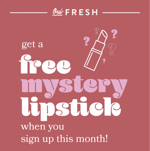 Oui Fresh Coupon Code – Free Lipstick with New Subscription