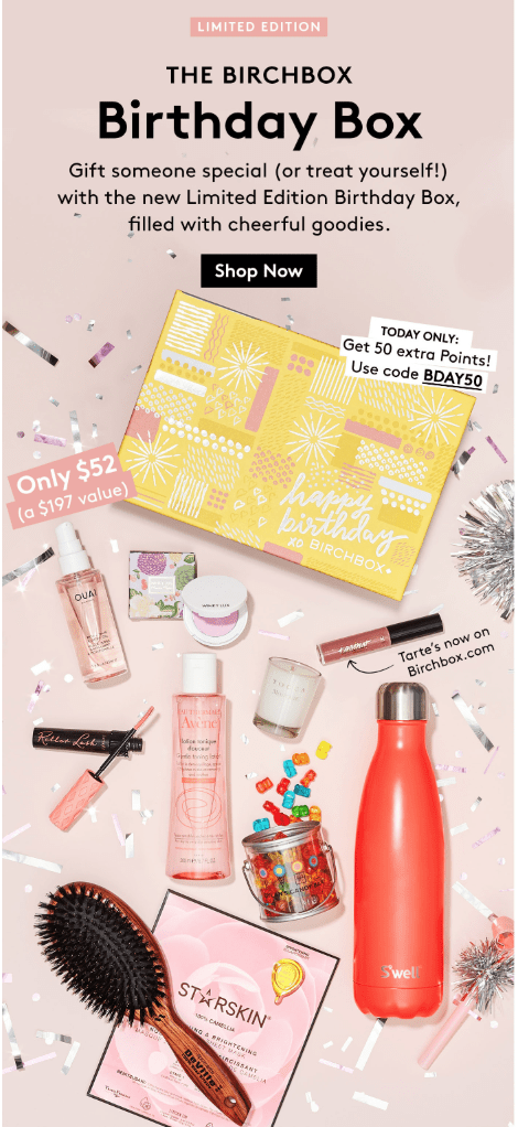 Birchbox Limited Edition: Birthday Box – On Sale Now + Coupon Codes!