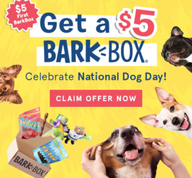 BarkBox Coupon Code - $5 First Box on 6 or 12-month Plans!