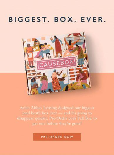 CAUSEBOX Fall 2018 Welcome Box – On Sale Now + FULL Spoilers + Coupon Code!