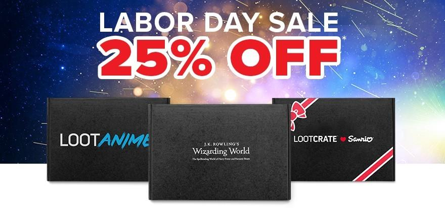 Loot Crate Labor Day Sale – Save 25%!