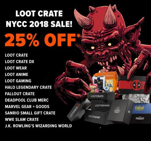 Last Day! Loot Crate NYCC 2018 Sale – Save 25%!