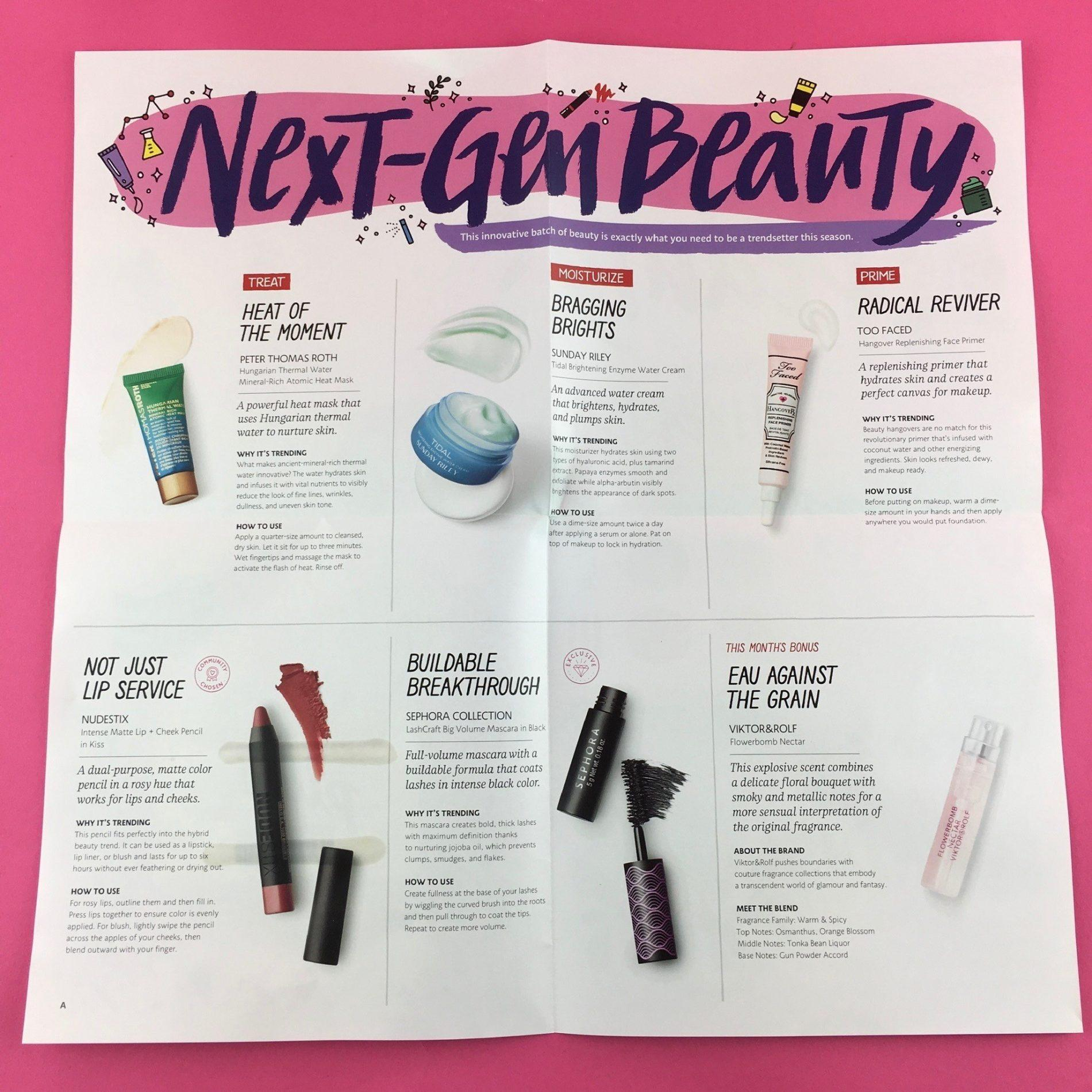 Play! by Sephora Review - September 2018 - Subscription Box